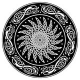Celtic shield, decorated with a ancient European pattern Royalty Free Stock Photos