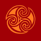 Celtic sign design symbol element abstract knot icon tatt Royalty Free Stock Photography
