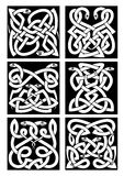 Celtic snakes knot patterns with tribal ornament Royalty Free Stock Image