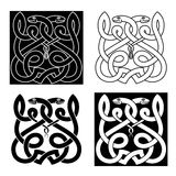 Celtic snakes ornament with tribal elements Stock Photography