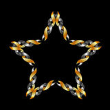 Celtic star- Tattoo or decoration Royalty Free Stock Photography