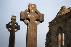 Celtic Stone crosses Stock Photo