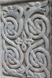 Celtic stone ornament. In close up Royalty Free Stock Images