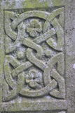 Celtic stone ornament. In close up Stock Images