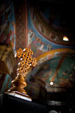 Celtic Style Cross. Cross Greek Orthodox Church Interior - Naxos stock images