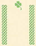 Celtic style knot borders Stock Images