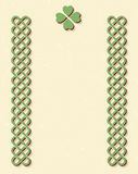Celtic style knot borders Stock Photos