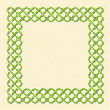 Celtic style knot frame Stock Images
