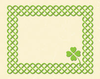 Celtic style knot frame Stock Image