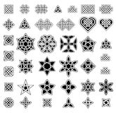 39 Celtic style knots collection, vector illustration. Black isolated on white background Royalty Free Stock Photo