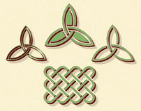 Celtic style knots Stock Images