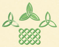 Celtic style knots Stock Photo