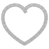 Celtic style knotted heart in white with black stroke with eternity knot pattern inspired by Irish St Patrick`s Day Royalty Free Stock Images