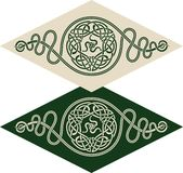 Celtic style pattern. Vector pattern using Celtic ornamental elements and the sign of twisted snakes Stock Photo
