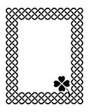 Celtic style shamrock frame Royalty Free Stock Photography