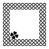 Celtic style shamrock frame Stock Images