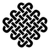 Celtic style square on eternity knot patterns in black on white background  inspired by Irish St Patricks Day Stock Image