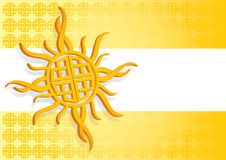 Celtic Sun Royalty Free Stock Photography