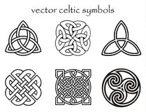 Celtic symbol. Isolated celtic knot illustration set Stock Illustration