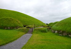 Celtic tomb knowth Royalty Free Stock Photo