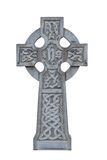 Celtic tombstone cross isolated Royalty Free Stock Photos