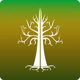 Celtic tree. Inspired by Gondor's white tree stock illustration