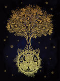 Celtic tree of life illustration. Stock Images