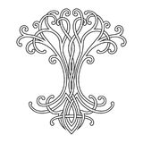 Celtic tree of life. Vector Celtic national drawing of a tree of life vector illustration