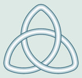 Celtic trefoil knot Royalty Free Stock Photos