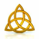 Celtic trinity knot. 3d illustration of golden Celtic trinity knot vector illustration