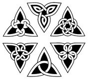 Celtic trinity knot set Royalty Free Stock Image