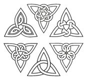 Celtic trinity knot set Stock Photography
