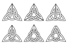 Celtic trinity knot set Stock Image