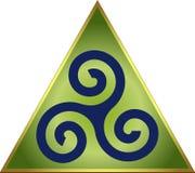 celtic triskele Royaltyfri Foto