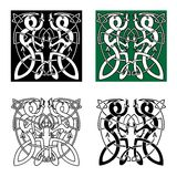 Celtic twisted dragons in tribal style Royalty Free Stock Images