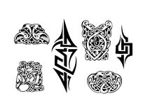 Celtic vector tatoo. Celtic black and white vector tatoo Royalty Free Stock Photo