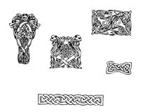 Celtic vector tattoo. Celtic black and white vector tattoo Stock Photos