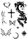Celtic vector tattoo. Celtic black and white vector tattoo Royalty Free Stock Images