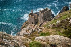 Crown Tine Mine at Botallack, Cornwall Royalty Free Stock Photos