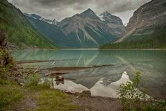 Kinney Lake. Mount Robson Provincial Park British Columbia Canada Stock Photography