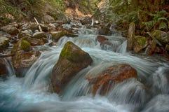 Sinclair Creek Rapids. At Raduim Hot Springs BC Canada Stock Photos