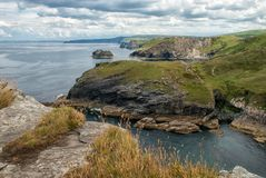Cornish North Coast. Tintagel , Cornwall Royalty Free Stock Photography