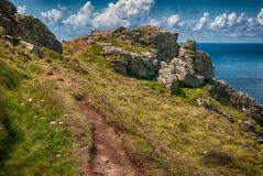Coastal Trail. At Botallack, Cornwall Royalty Free Stock Photos