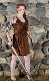 Celtic warrior girl Stock Images
