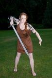 Celtic warrior girl Royalty Free Stock Image