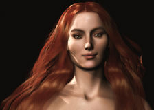 Celtic Woman - 001. A fair celtic lass with eyes of green and hair of red Stock Photo
