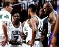 Celtics Time out. Stock Images