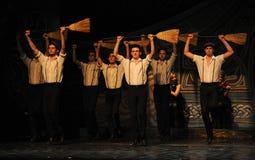 Celtkrigare---Den irländska nationella danssteppet Arkivfoto