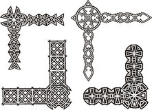 Celtyccy dekoracyjni kępka kąty Obraz Royalty Free