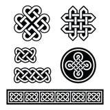 Celtyccy irlandczyków wzory, warkocze i - royalty ilustracja